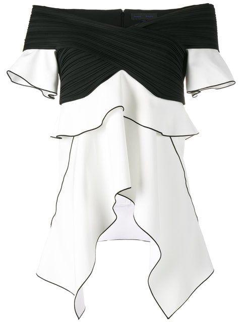 72f0a44a503b6 Shop Proenza Schouler peplum knit top White Off Shoulder Top