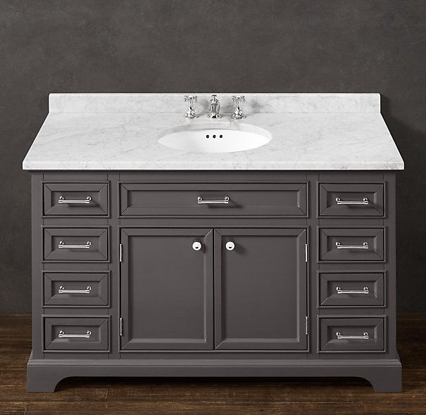Images Photos Kent Extra Wide Single Vanity Sink restoration hardware Find a similar style