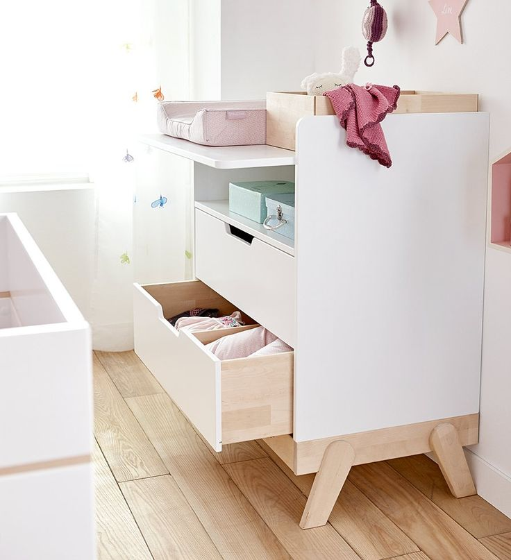Changing Table And Desk Combo U2013 Birch And White By Lifetime Kidsrooms Solid  Wood