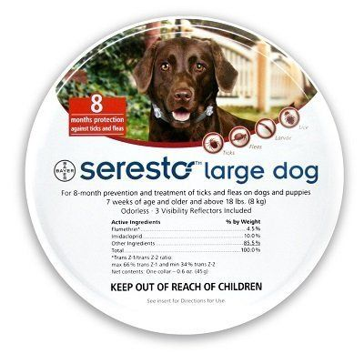 Seresto Collar Dog Large 70 cm by Seresto Seresto Collar Dog Large 70 is rated as one of the best products in Pet Supplies category in USA. Click below to see its Availability and Price in YOUR country.