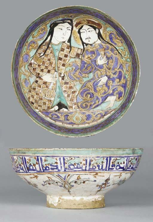 A MINA'I POTTERY BOWL CENTRAL IRAN, LATE 12TH CENTURY