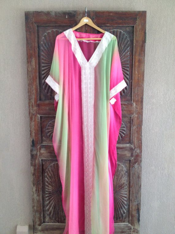 Chiffon Aisha Caftan by ArabianThreads on Etsy, $150.00