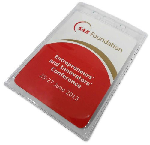 The South African Breweries (SAB) Foundation selected a Z-CARD®, inserted into a plastic pouch with lanyard, as a compact conference programme and map for its inaugural Innovators' and Entrepreneurs' Conference which took place at the SAB World of Learning in Kyalami from 25th to 27th June.
