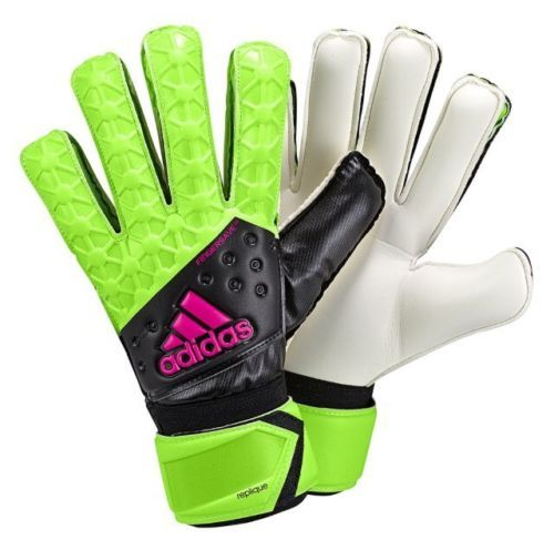 Gloves 57277: Adidas Ace Fingersave Replique Goalkeeper Gloves Size 10 Black Green-Nip! -> BUY IT NOW ONLY: $30 on eBay!