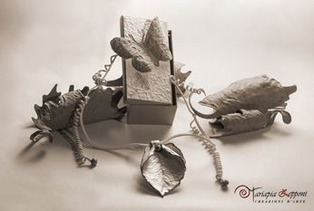 Recycled paper jewel by Mariapia Zepponi Italy