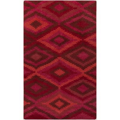 Found it at Wayfair - Mesa Burgundy Geometric Rug