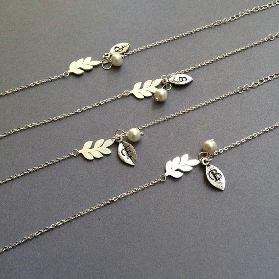 Leaf Bracelet Silver Leaf Bracelet  Bridesmaid by Instyleglamour