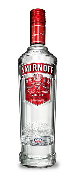 Smirnoff Vodka bottle and logo