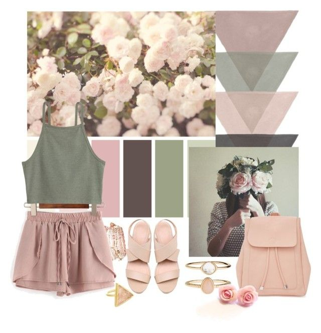 """Don't ask me why"" by nicolepuppy ❤ liked on Polyvore featuring Accessorize, WithChic, New Look, shorts, pastels, contestentry, summersandals and summer2016"