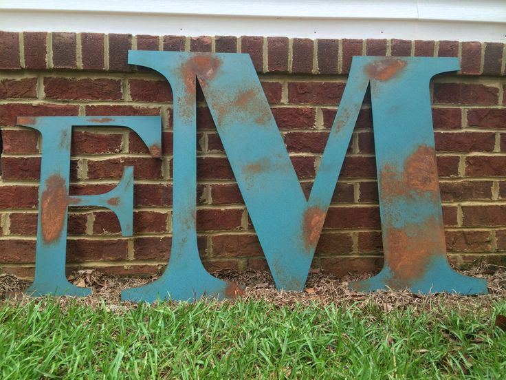 Large Metal Wall Letters 52 best letters i love images on pinterest | metal letters, large