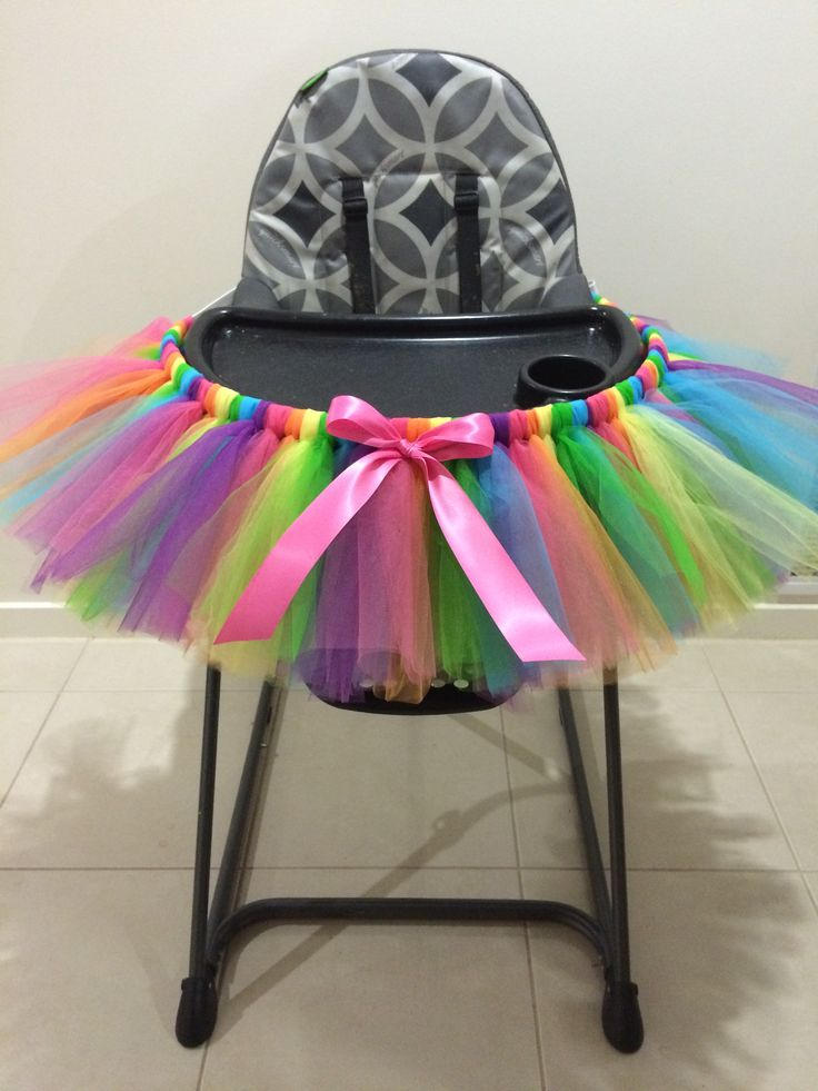 Baby toddler highchair 1st tutu birthday custom colours welcome