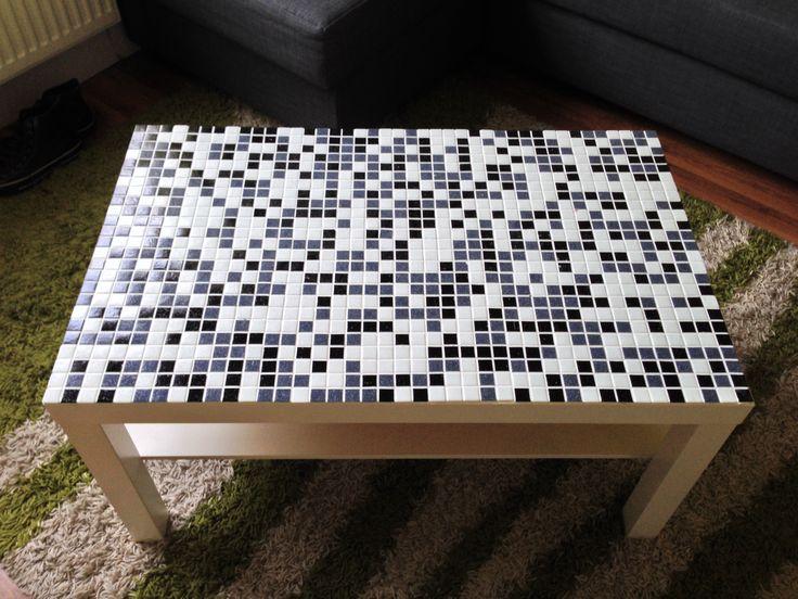 IKEA Lack Wohnzimmertisch mit Mosaik verschönern