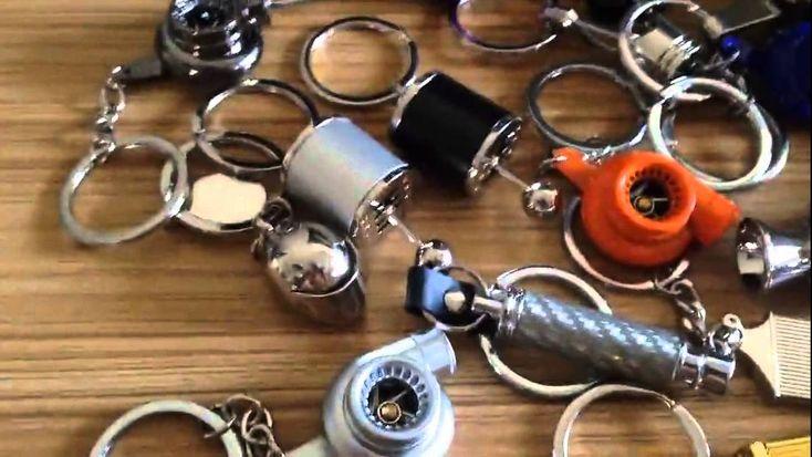 Auto parts keychain---Turbo,piston,Disc brake,spark plug,gear,shock abso...