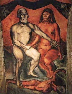 José Clemente Orozco, Cortés y la Malinche, 1926, ENP, DF