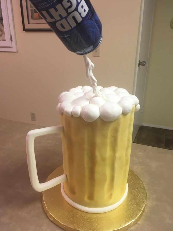Another view of beer cake