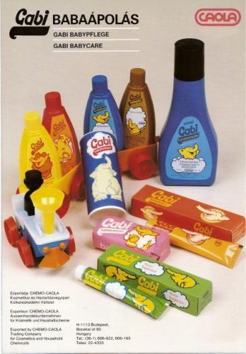 Gabi termékcsalád '70-80-as évek