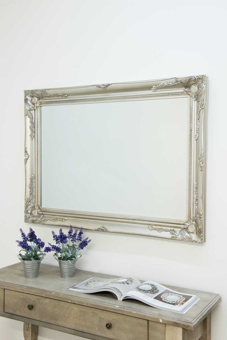 View Buckland Silver Framed Mirror 110x79cm. Features a decorative silver frame. Popular style, available in 5 colours & sizes. Low prices & free UK delivery.