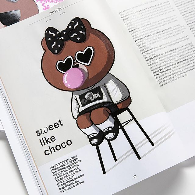 Choco on magazine