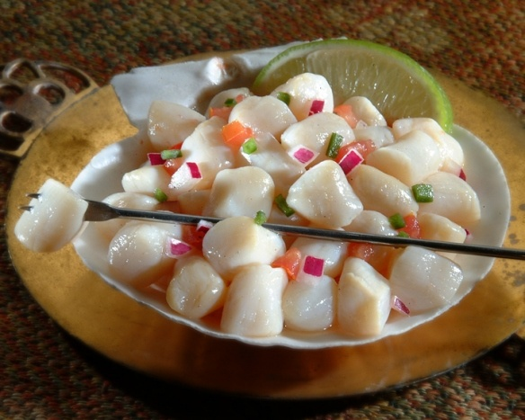 Bay scallop ceviche | EAt bAkE lOvE | Pinterest