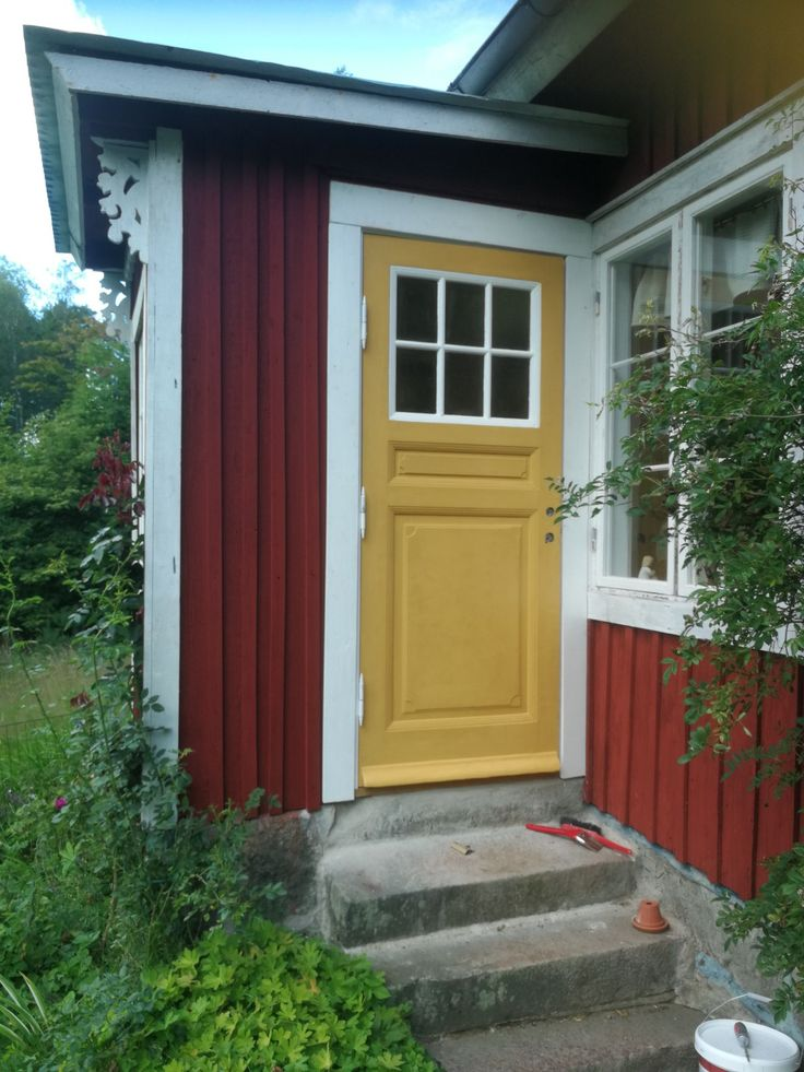 The Old door after 3 Weeks of fitting and painting. Love the result!