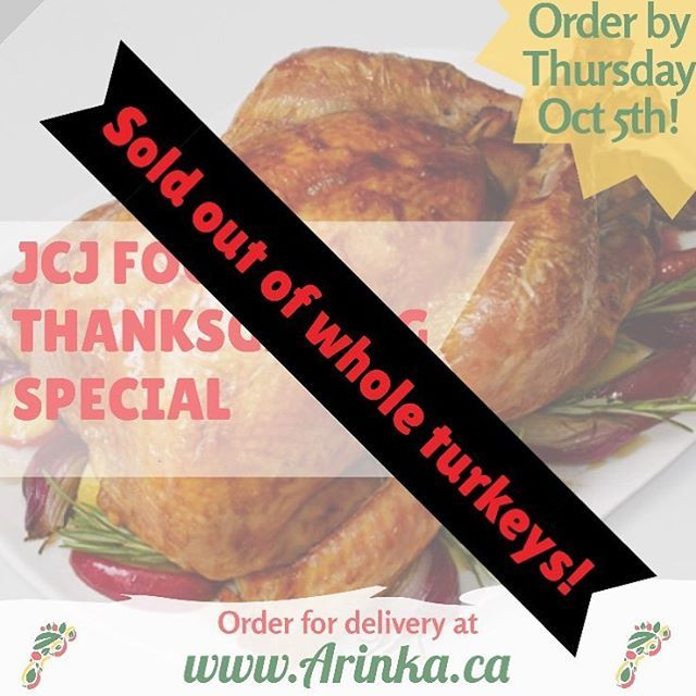 UPDATE: We're all sold out of whole turkeys!!! Good news is we still have stewed turkey, fried fish, and mixed meats to go with your meal of choice. Click the link in our bio NOW to get a delicious Thanksgiving dinner delivered fresh to your doorstep!