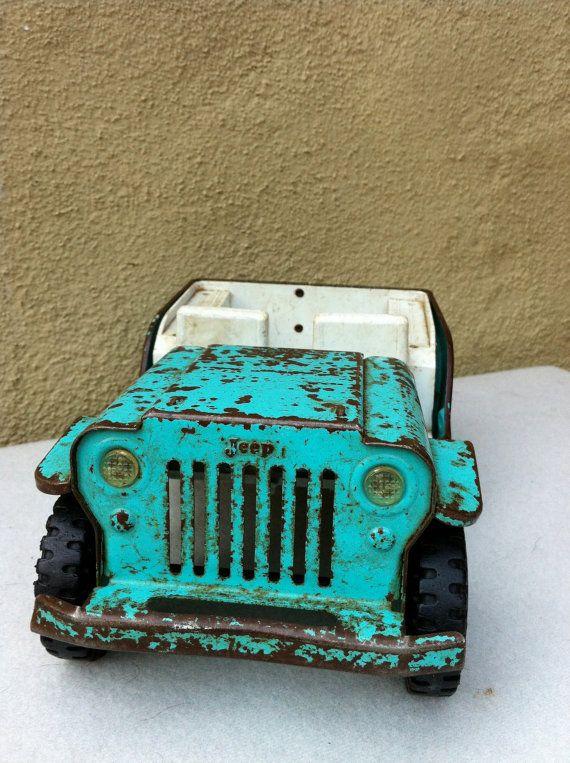 vintage tonka toy jeep toys shape  love