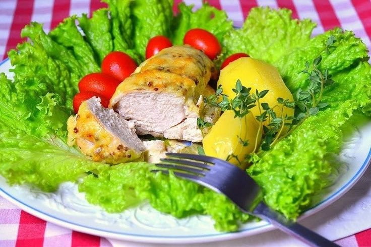 Куриное филе в сливочном соусе с тимьяном