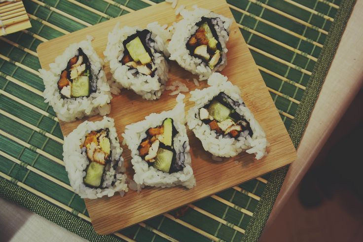 when lee and I became pro sushi masters. #food