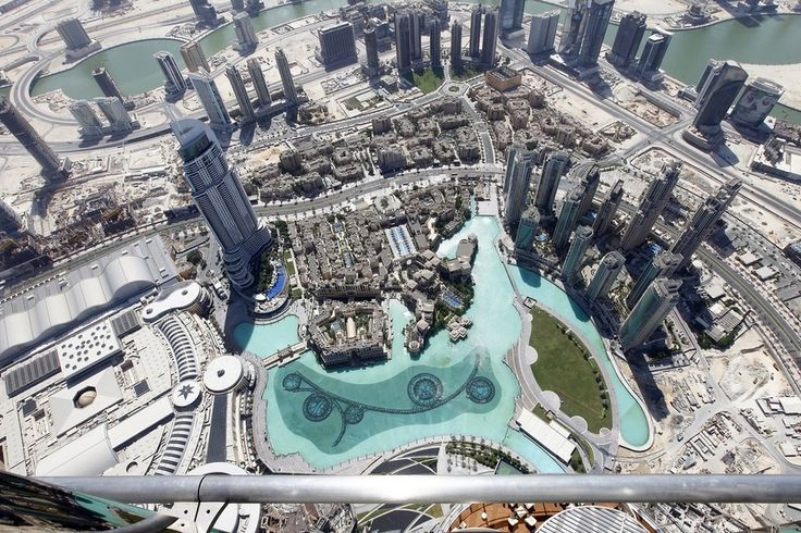 The view from At The Top - Sky on the 148th floor of the Burj Khalifa.