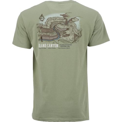 Magellan Outdoors Men's Grand Canyon Short Sleeve T-shirt (Green/Grey, Size Medium) - Men's Outdoor Apparel, Branded Graphic T's at Academy Sports