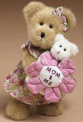 Boyds Plush Teddy Bears Dressed for Mother's Day for Moms