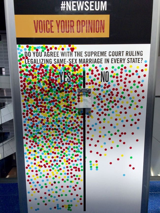 News and Emotion at the Newseum in Washington DC