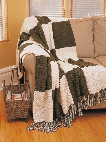 Textured Afghan   Yarn   Free Knitting Patterns   Crochet ...