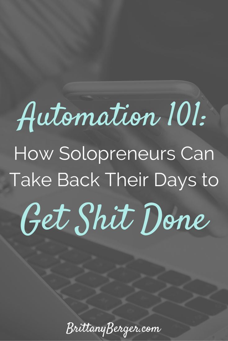 Solopreneurs: want to take back your day and stop wasting it on admin that you can't afford to delegate? Get shit done by automating your blog and business tasks to apps instead. Get the lowdown on how automation can work for your solo business.