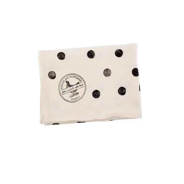 Hand-Printed Polka Dot Tea Towels by Coghlan Cottage Farm