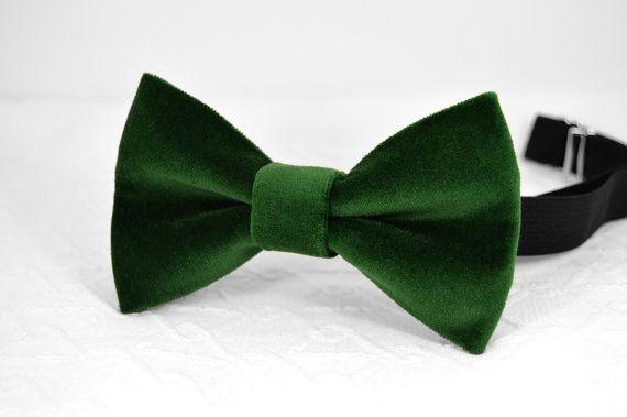 Emerald green velvet bow tie green bow tie emerald от MrFoxBowTies