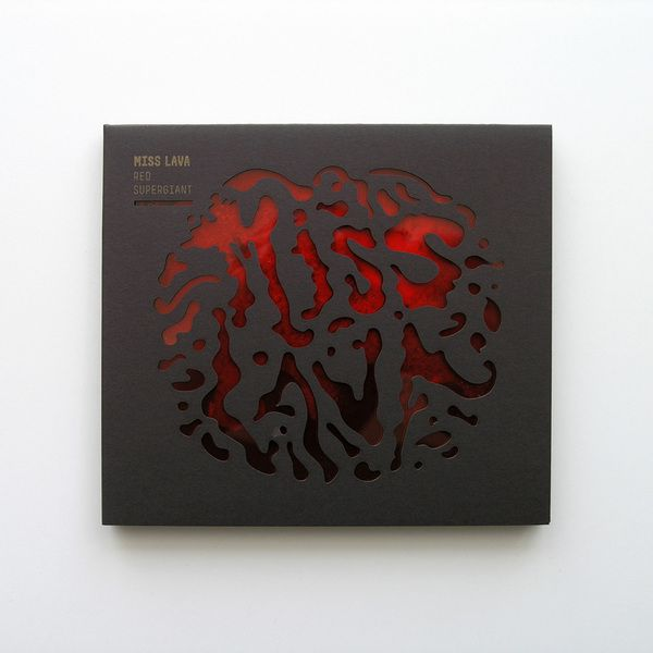 Red Supergiant CD cover  Miss Lava / 2012 #design #diecut #cd #cdcover #packaging
