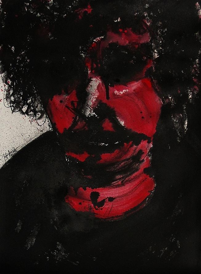 tachisme: Brett Whiteley sees red