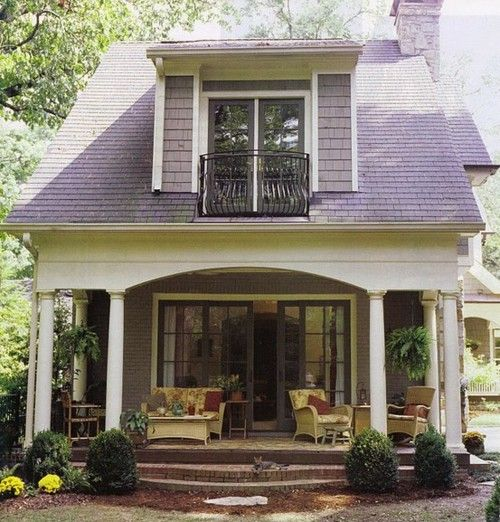 OK this is a GREAT look for a small home! The French doors are a really nice look!