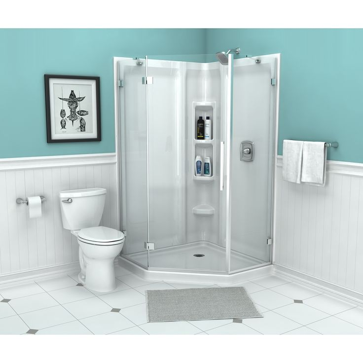 American Standard Axis 56.14-in W x 72-in H Frameless Frameless Neo-Angle Shower Door