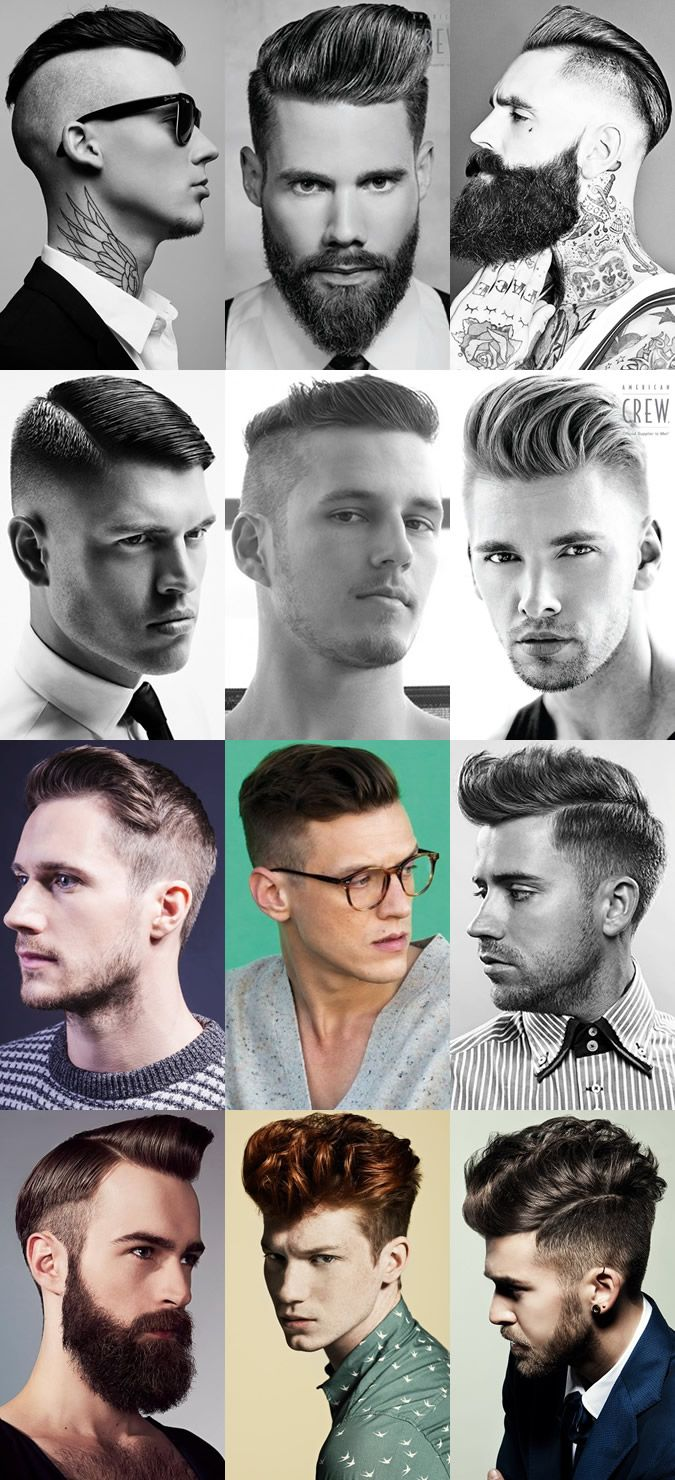 Dramatic Men's Hairstyles With Disconnected Sides Longer Length On Top -- I'll take one of each please!!