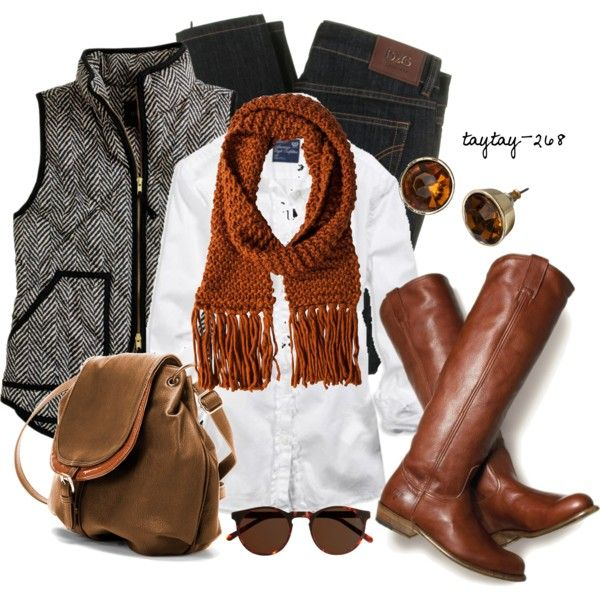 """Black & White Vest"" by taytay-268 on Polyvore:"
