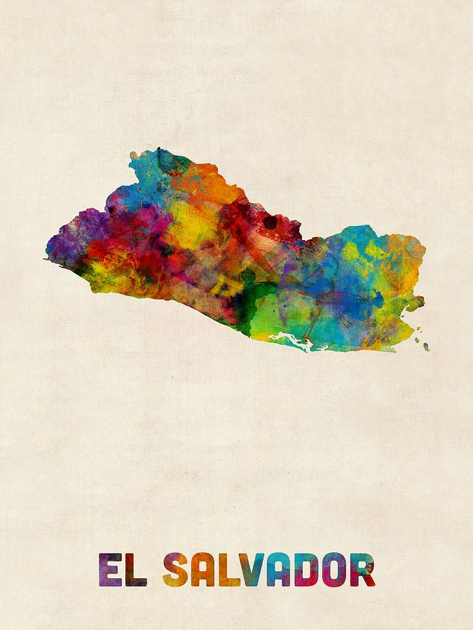 el salvador map art - Google Search