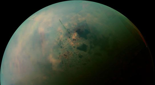 New Cassini Images of Titan's Hydrocarbon Seas and Lakes