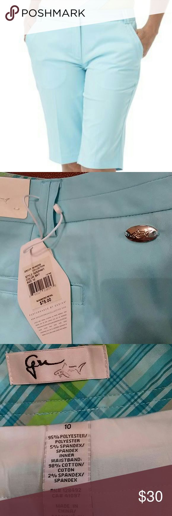 "Greg Norman Bermuda Shorts 10 nwt Fresh/ crisp sky blue in size 10 Poly/spandex blend 13"" inseam Light weight and cool in hot weather Casual, golf, walking, picnics greg norman Shorts Bermudas"