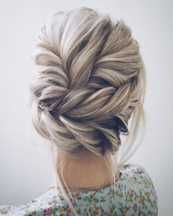Updo Braid Long Hairstyle Easy Platinum Blonde In 2019