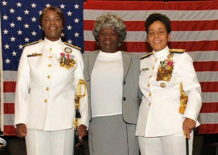 Living History -- only photo of three (3) African American female Navy Admirals at the retirement ceremony for Commander Navy Recruiting Command, Rear Admiral Annie Andrews. Photo courtesy CCG (Women of Color STEM Conference)