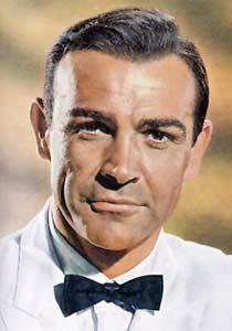 James Bond 007 Sir Sean Connery bow tie