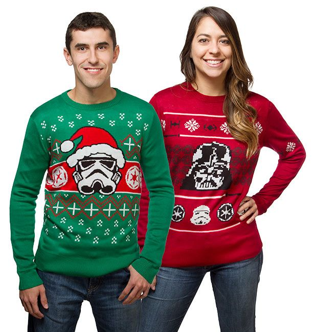 Star Wars Holiday Sweaters : $34.99 + Free S/H (reg. $49.99)  http://www.mybargainbuddy.com/star-wars-holiday-sweaters-34-99-free-sh