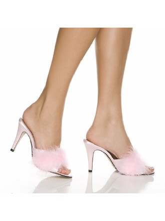 14 best images about boudoir slippers on pinterest shoes - Ladies bedroom slippers with heel ...